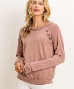 NWT-Gorgeous-Women-s-Large-Sweatshirt-Sweater-Blouse-Top-BOUTIQUE