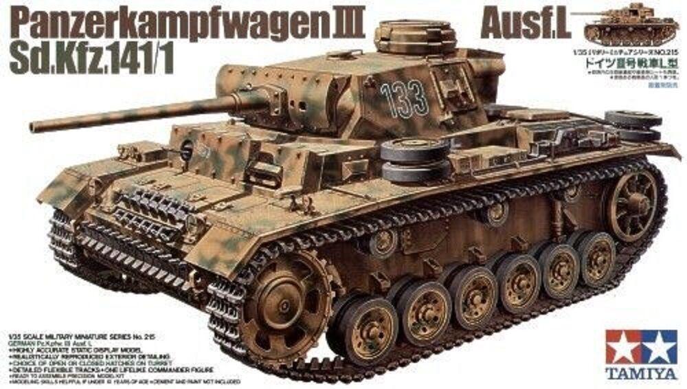 Tamiya Gerhomme Panzerkampfwagen III Ausf. L sd.kfz.141\1 1 35 Scale  cod.35215  autorisation de vente de la marque