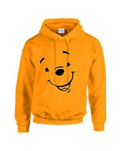WINNIE THE POOH Yellow Adults unisex TV cartoon character Hoodie ... 36720a623