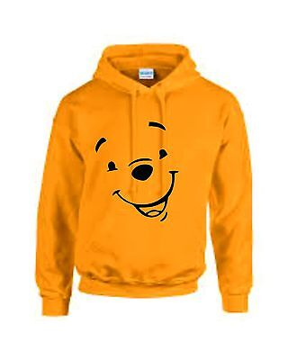 Winnie The Pooh Yellow Adults Unisex Tv Cartoon Character Hoodie Sweatshirt