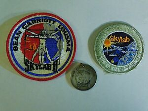 Vintage Lot of Skylab Patches : I & II With Medallion - Iron On Sewing Patch