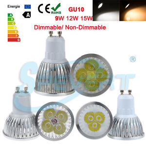 Regulable-9-12-15W-GU10-LED-Spotlight-Lampara-Luz-Reemplace-la-bombilla-halogena