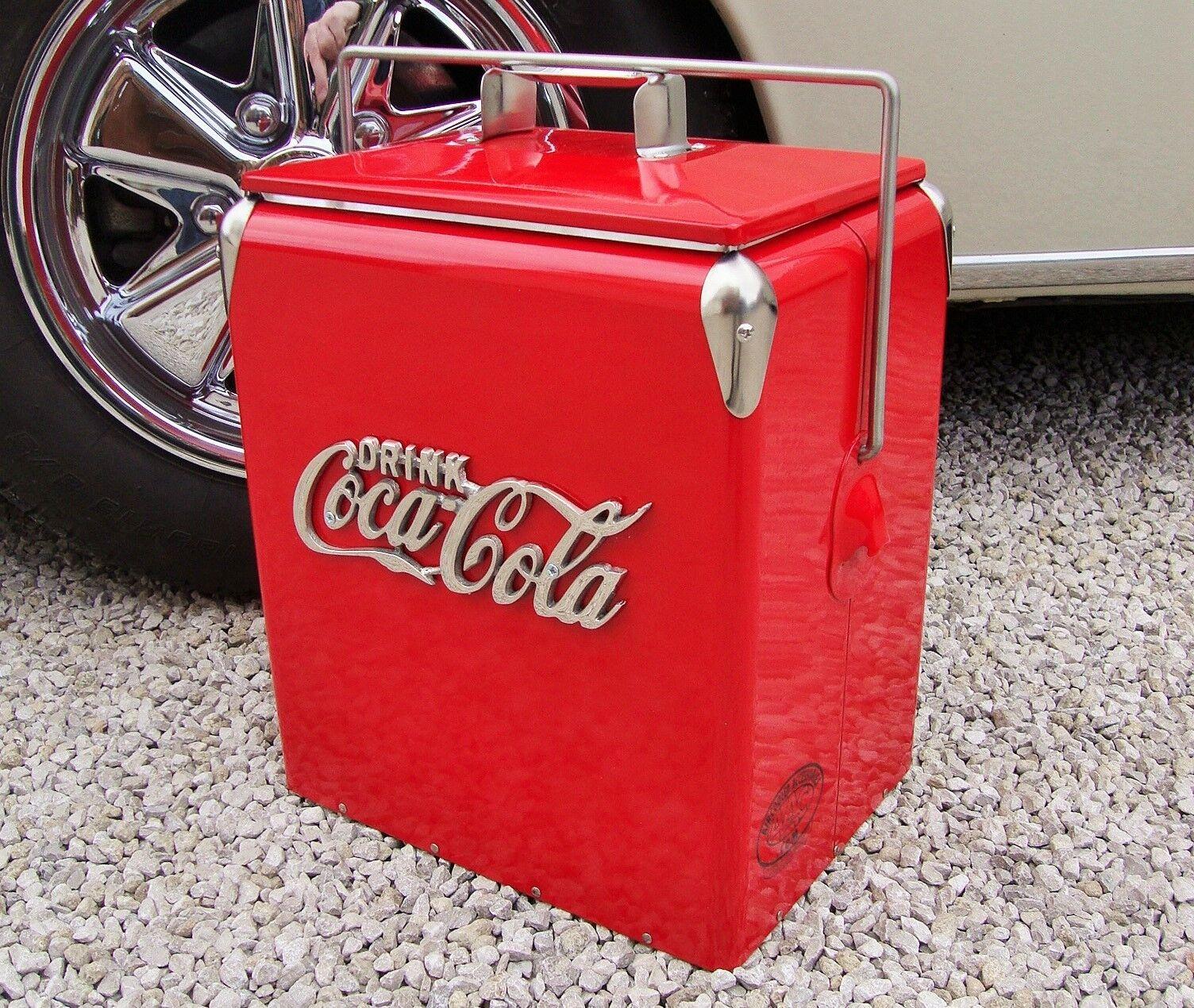 Coca Cola Cool Box Rouge Rouge Rouge Cooler Vintage coolbox COLA COCA COLA Boisson 852a18