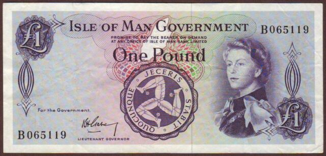 ISLE  OF  MAN   1 Pound   ND (1961)   Prefix B   P25a