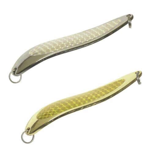 3 7oz. THREE Chrome Alligator Crocodile Type Spoons with Holographic Foil