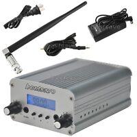 1W/5W FM Stereo PLL Transmitter Radio Broadcast Station +Ant.+Power Supply B0229