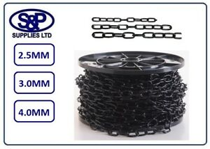 2-5mm-3mm-4mm-BLACK-FINISH-STEEL-CHAIN-1-MTR-UP-TO-10-MTRS-LONG