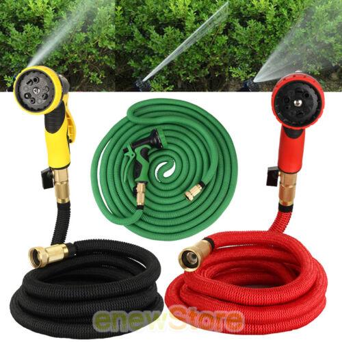 Deluxe 25//50//75//100 Feet Expandable Flexible Garden Water Hose w//Spray Nozzle US