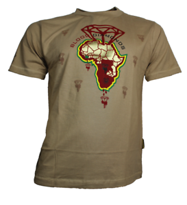 Color-heritage-Africa-Blood-Diamond-T-Shirt-Size-S