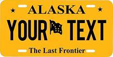 Alaska State Custom Personalized License Plate  Aluminum 6 X 12 auto tag