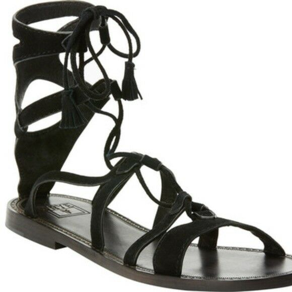 Frye Ruth Gladiator Short Sandal color Black  New with box