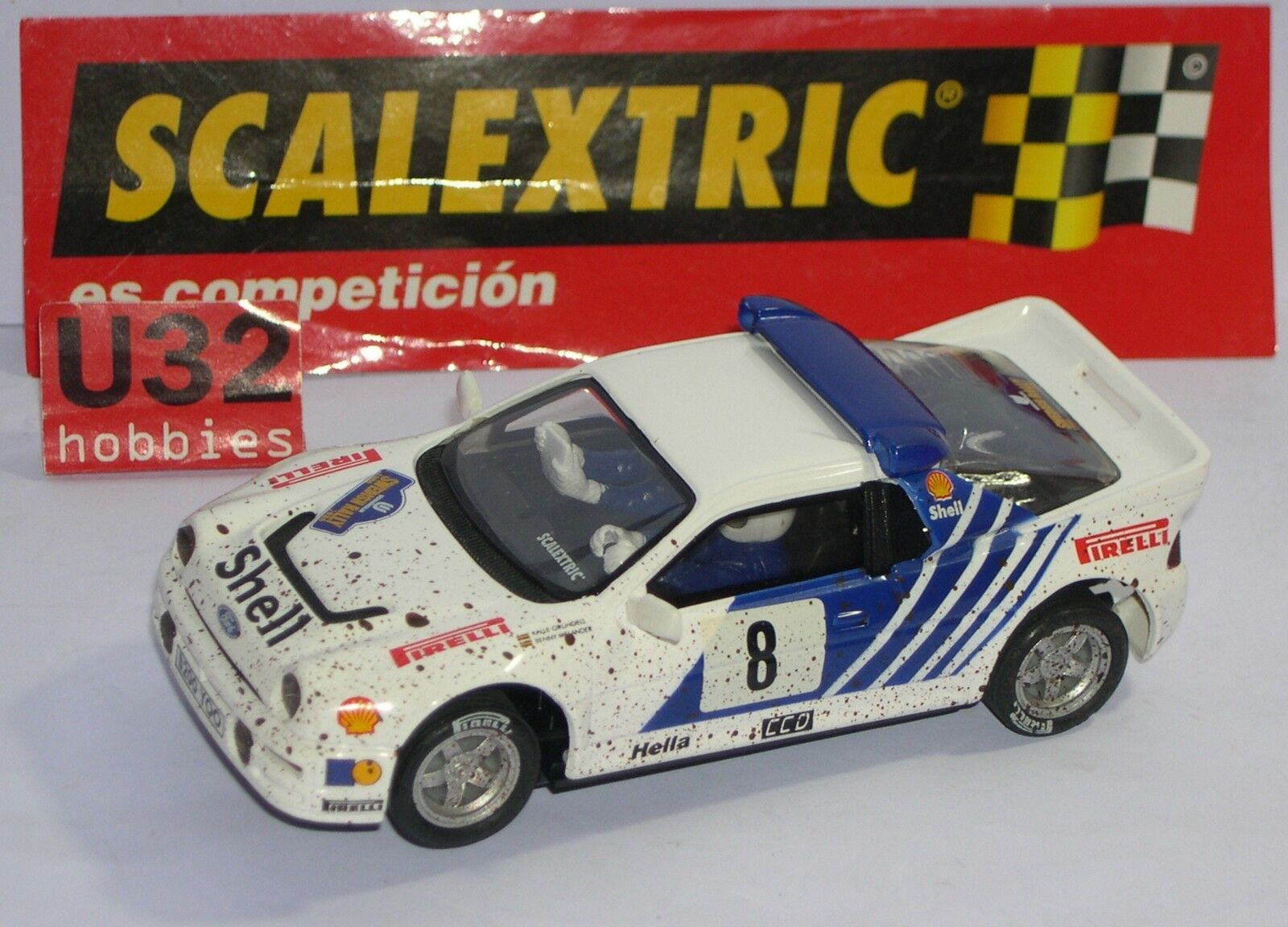 FN SCALEXTRIC SPAIN ALTAYA RALLY MYTHICAL FORD RS200 K.GRUNDELL-B.MELANDER