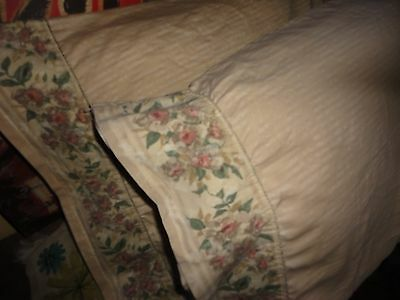 CROSCILL COTSWOLD FLORAL CINNAMON GREEN (PAIR) KING PILLOWCASES 19 X 38