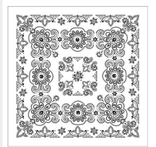 foulard environ 68.58 cm Coton Bandana Écharpe Noir Blanc Texas Paisley Extra Large 27 in