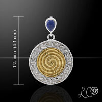 Laurie Cabot Celtic Ancestral Wisdom Spell Sterling Silver Pendant Peter Stone