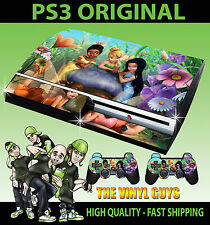PLAYSTATION PS3 ORIGINAL TINKERBELL AND FRIENDS FAIRIES SKIN & 2 PAD SKINS
