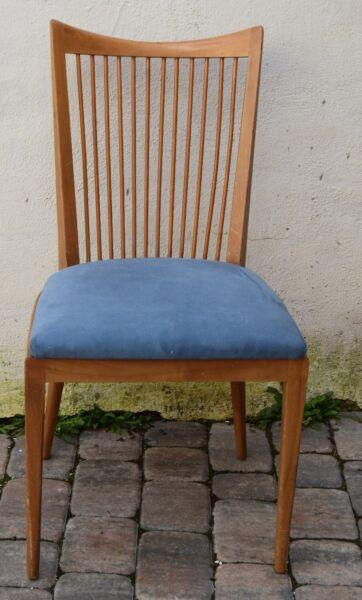 2 (1 Paar) Stühle Deutsches Design Esszimmerstuhl / Dining Chair Kirsche 60er