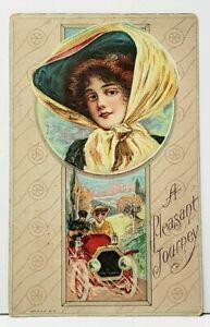 Victorians-A-Pleasant-Drive-1911-Bellaire-Ohio-to-St-Clairsville-Postcard-I18