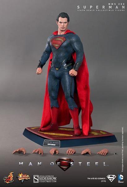 HOT TOYS  MMS200 SUPERhomme homme OF STEEL 12  1 6 SCALE FIGURE HENRY CAVILL nouveau  économisez jusqu'à 30-50%