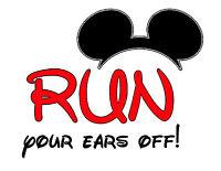 Disney Mickey Vaction Run Your Ears Off Iron On T Shirt Fabric Transfer 304