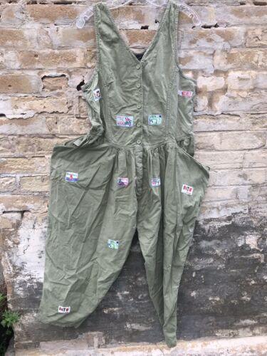 Vintage 80's Amazing New Wave Cotton Jump Suit Lar