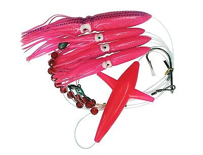 Lot of 5 Custom Offshore Tackle Daisy Chains Tuna Mahi Marlin Rainbow