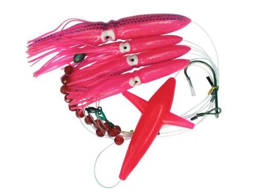 Custom Offshore Tackle Daisy Chain Tuna Mahi Marlin Fishing Lure Pink