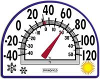 Springfield Window Cling, Seasons Design, Thermometer 91157