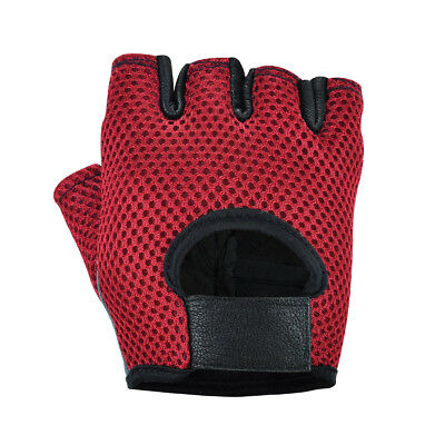 Mesh Net Breathable Training Workout Cycle Weight Lifting Padded Gym Gloves
