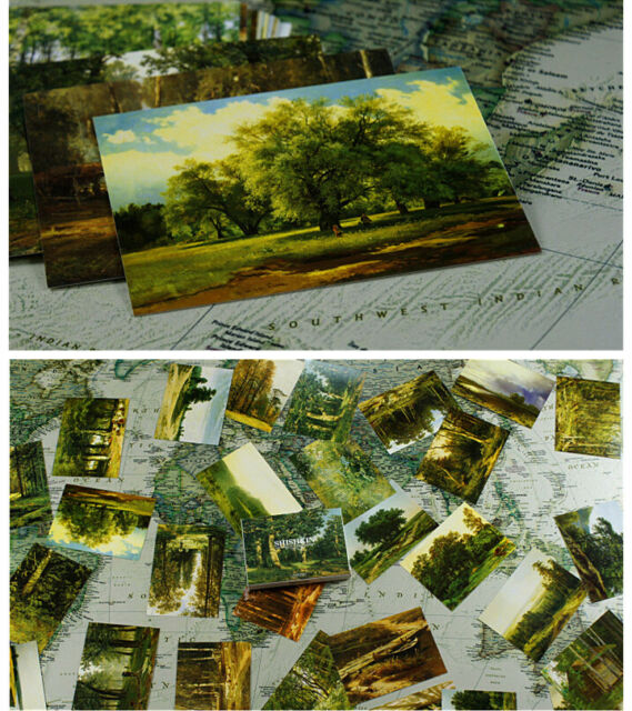 Lots 30 pcs Ivan I. Shishkin Famous Oil Paintings Forests Post cards Russia Bulk