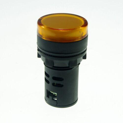 Yellow LED Power Indicator Signal Light 110VAC 22mm Diameter  50mm Height