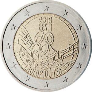 2  Euros ESTONIE 150e anniversaire du Festival  2019 UNC  DESTOCKAGE!!!!!!!!!!!!