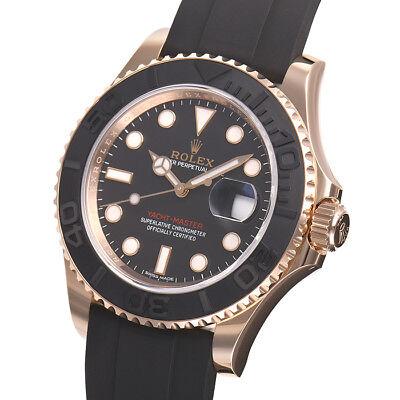 Rolex YachtMaster Everose Gold 116655 Rubber Oysterflex Bracelet 40mm  Ceramic