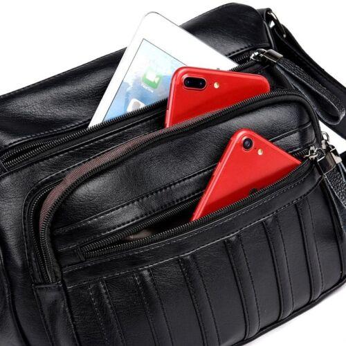 Women Crossbody Vegan Leather Bag Messenger Shoulder Bags Travel Purse Handbag