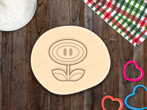 Mario Flower Super Mario Cookie Cutter Cupcake Topper Fondant Gingerbread