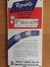 Republic Wiretex Rubber Covered In Hydraulic Hose Selector Slide Rule