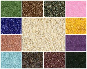 CHOOSE-COLOR-10g-11-0-1-6mm-Miyuki-Delica-Japanese-Seed-Beads
