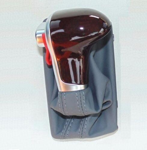Gray Grey Leather Woods GEAR Shift Knob for LHD AUDI A6 C6 A7 A3 A4 A5 Q7 Q5