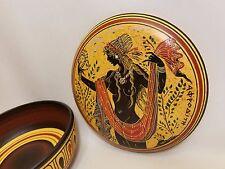 Greek Goddess Aphrodite Rare Hellenic Ancient Art Pottery Jewelry Case