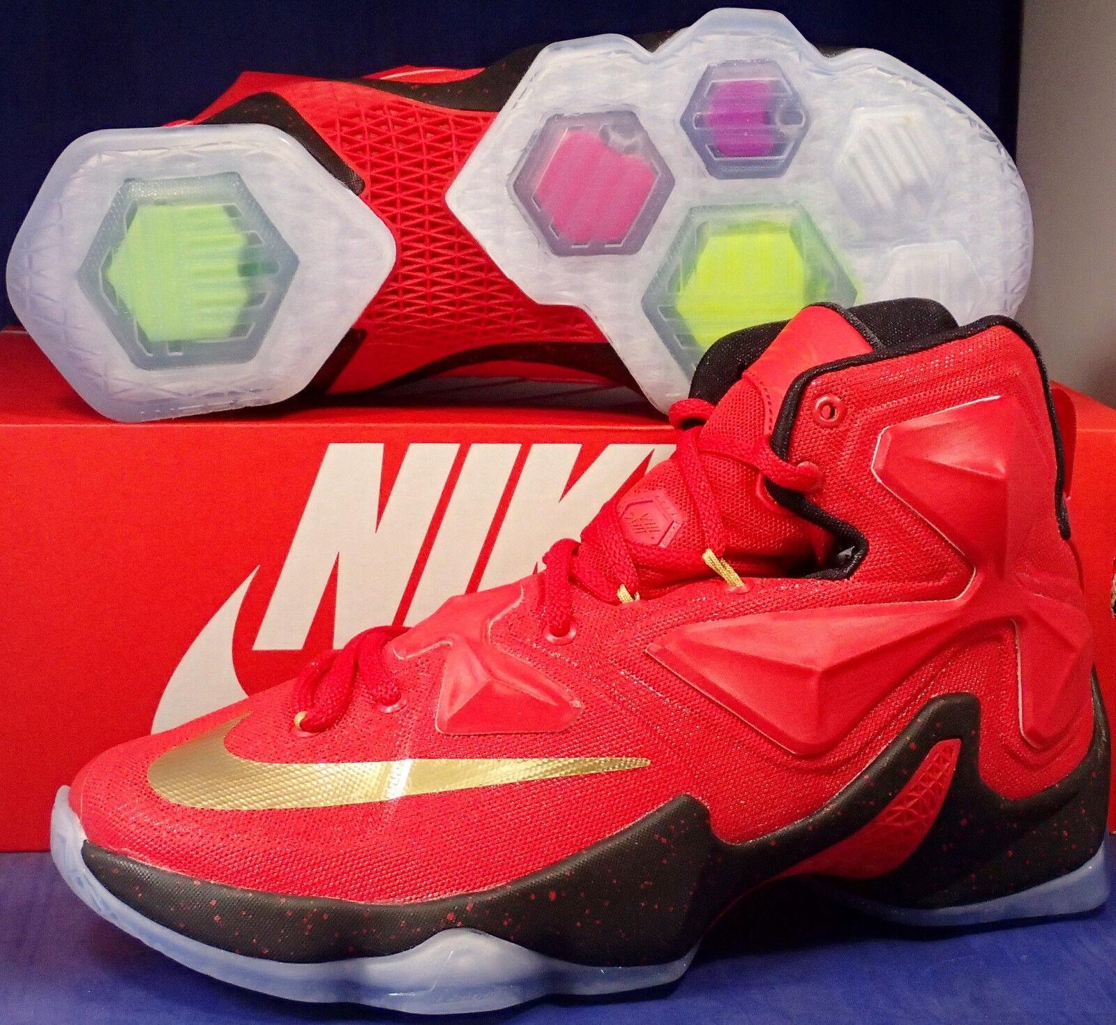 Nike lebron xiii 13 id palestra oro rosso nero sz noi 7 / donne sz (836141-992)