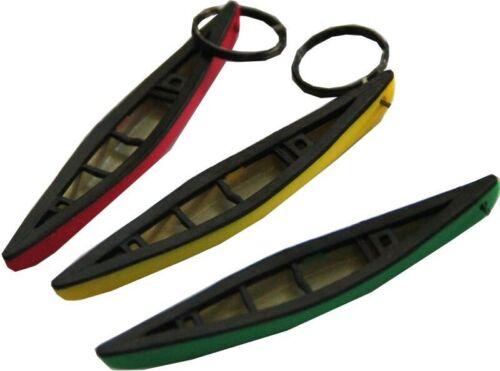 Schlüsselanhänger Canadier Kanu Boot Paddeln detailgetreuer Anhänger mit Ring