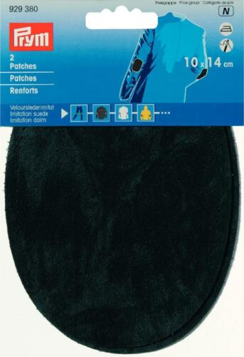 Prym Patches Velourslederimitat zum Aufbügeln 10x14 cm grün 1 Paar 929380