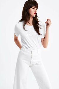 cherrie424: NWOT Zara Crochet Front Top