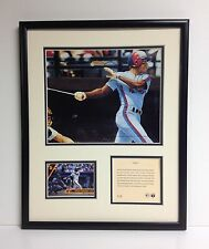 RARE DELINO DESHIELDS MONTREAL EXPOS MLB 1993 FRAMED ART & PHOTOGRAPH