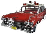 1959 Cadillac Ambulance Red/white Precision Collection 1/18 By Greenlight 18001