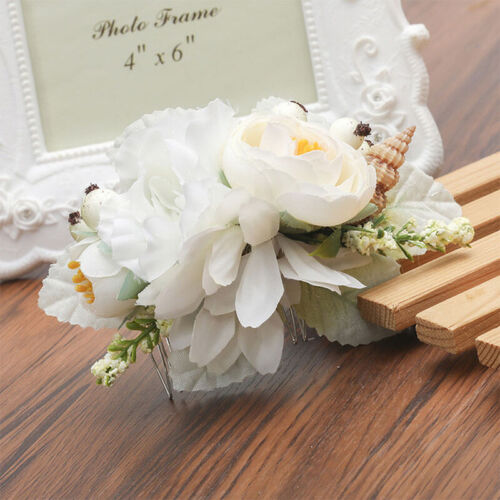 Women/'s Flower Hair Comb TuckComb Wedding Bridal Hair Clips Accessories Party