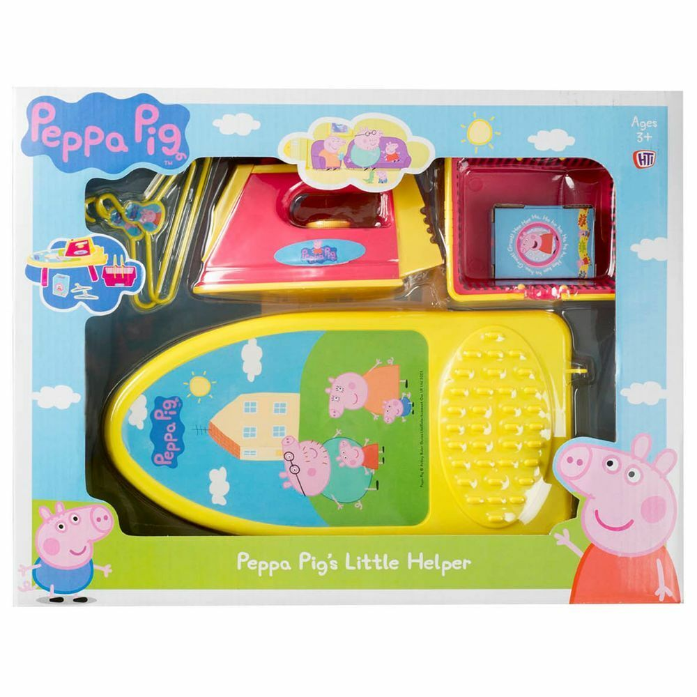 Peppa Pig Pig's Little Helper Toy Includes Iron, Ironing Board, Hangers, Basket