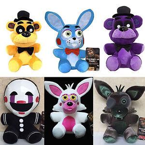 FNAF-Five-Nights-at-Freddy-039-s-Sanshee-Plushie-Toy-10-034-Plush-Bear-Foxy-Xmas-Gifts