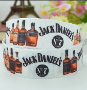 1 yard (90cm) Jack Daniels 22mm Ribbon  - Gift Decoration - DIY Hair Bow