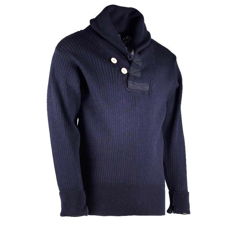Solent Shawl Collar Sweater 100% British wool    41081